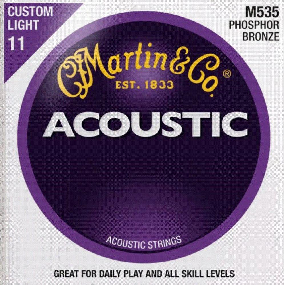 Martin M535 Acoustic Guitar Strings Phosphor Bronze Custom